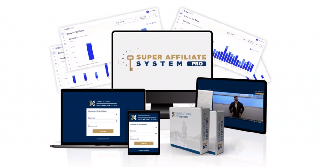 What you get when you sign up for Super Affiliate System Pro™ training course.
